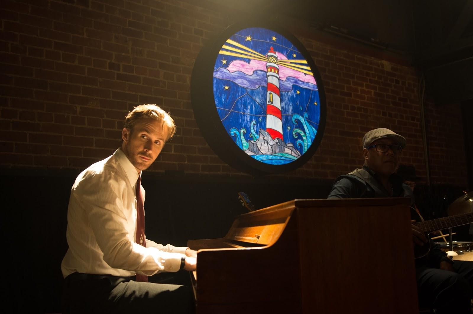 Ryan Gosling tocando el piano en LaLaland