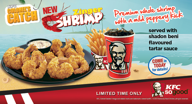 What a kfc seafood menu might look like brand eating for Loves fish box menu