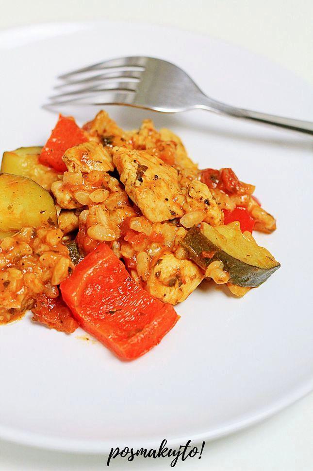 szybka-zapiekanka-ryzowa-z-kurczakiem-i-warzywami