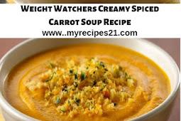 Weight Watchers Creamy Spiced Carrot Soup Recipe