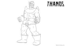 T For Thanos Coloring Pages