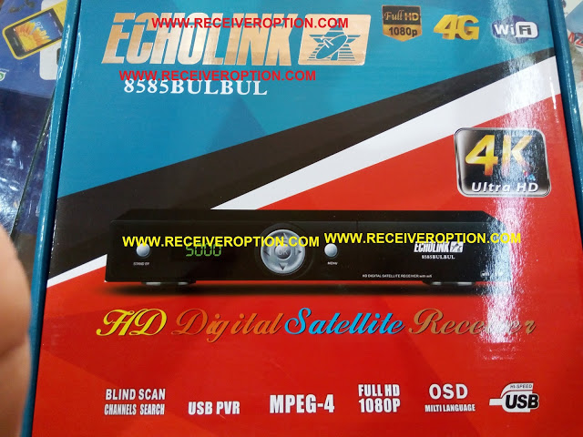 ECHOLINK 8585 BULBUL HD RECEIVER AUTO ROLL POWERVU KEY SOFTWARE