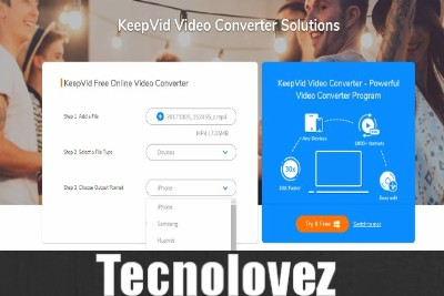 KeepVid Free Online Video Converter - Tool che permette di convertire file audio-video direttamente online