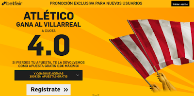 betfair Atletico gana Villareal supercuota 4 Liga 21 febrero