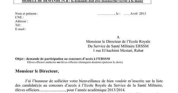 exemple de demande d emploi manuscrite pdf