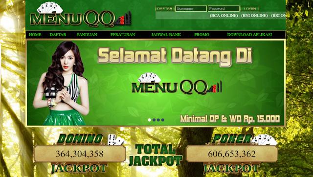 MenuQQ Agen Situs BandarQ Online Terpercaya Di Indonesia