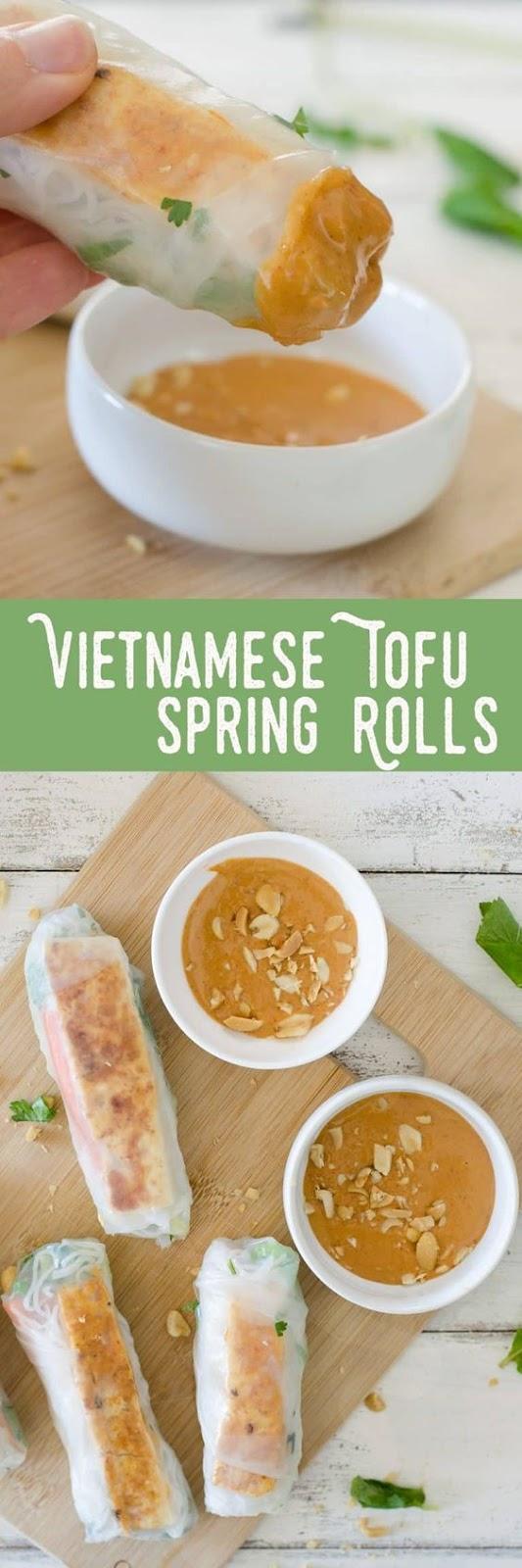Vietnamese Tofu Spring Rolls – Easy Delicious Recipe