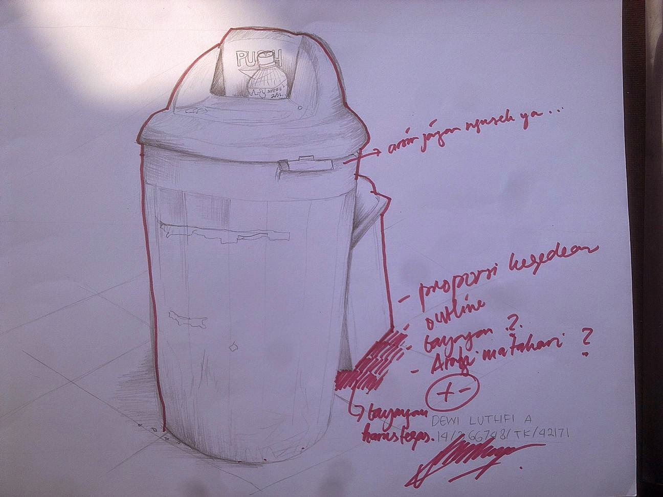 35 Ide Contoh Gambar Sketsa Tong Sampah Tea And Lead