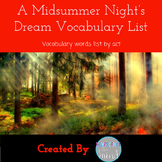 A Midsummer Night's Dream Vocabulary