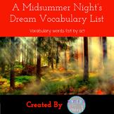 A Midsummer Night's Dream Vocabulary