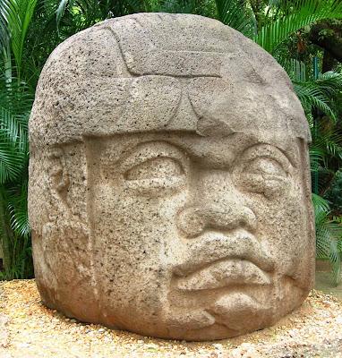 Olmec Stone Head - La Venta Monument 1