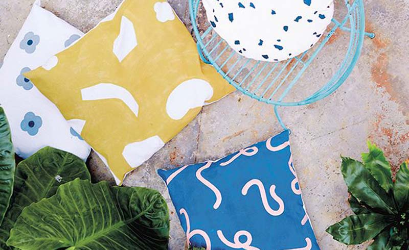 DIY, Pillow, Create a Colorful