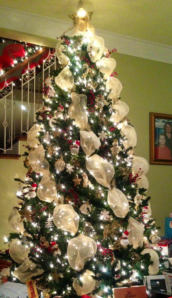 c mo decorar un hermoso rbol de navidad con mallas