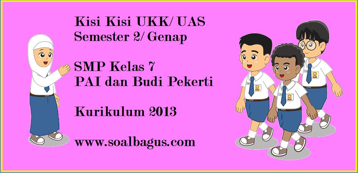 Kisi Kisi UKK Kelas 7 PAI dan Budi Pekerti Kurikulum 2013 ...