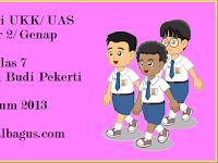 Kisi Kisi UKK Kelas 7 PAI dan Budi Pekerti Kurikulum 2013
