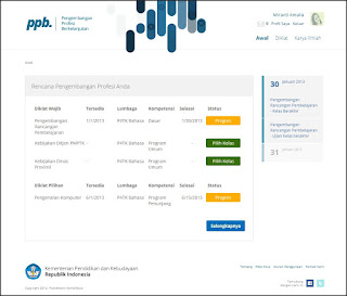 Cara Menggunakan Aplikasi Pengembangan Profesi Berkelanjutan Online di Rumah Belajar Kemdikbud