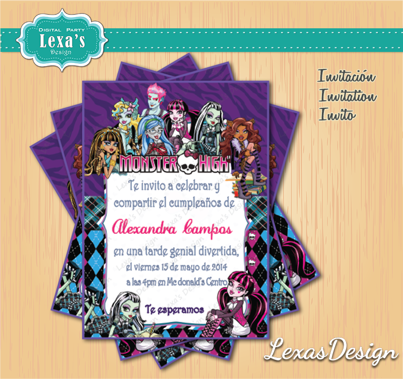 Invitaciones fiestas Monster High gratis