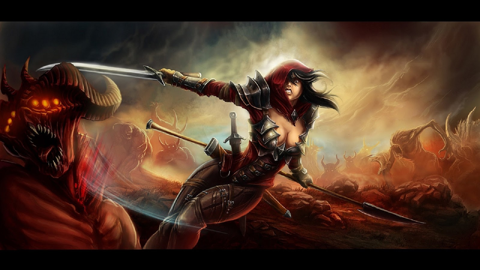 Anime Girl With Sword Wallpapers