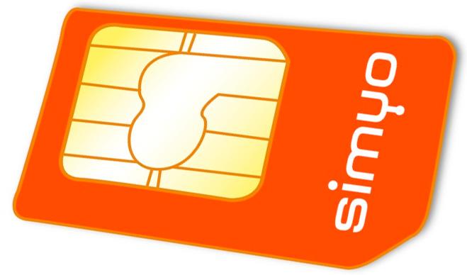 tarjeta SIM de Simyo