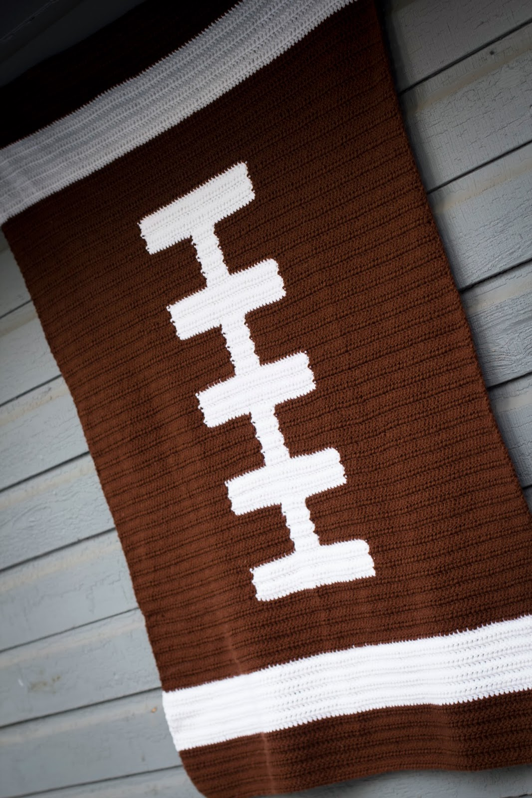 Football Blanket Crochet Chart