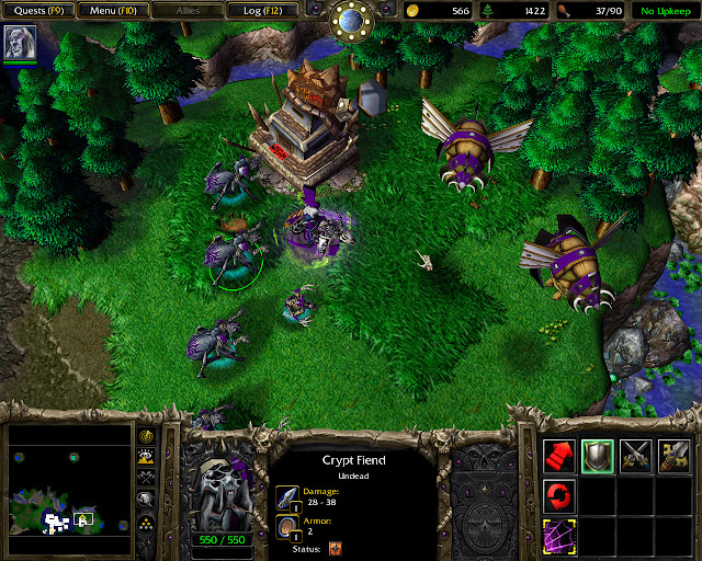 Key of Three Moons Mission 15 | Crypt Fiend Screenshot | Warcraft 3: Reign of Chaos