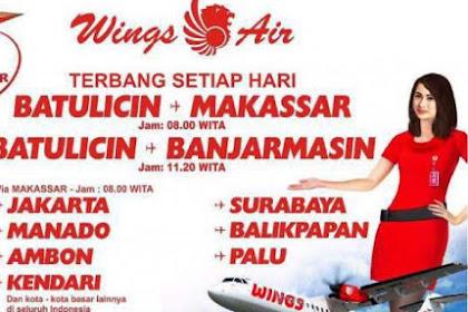 Bandara Bersujud Batulicin Siap Beroperasi Kembali, Wings Air Buka Rute ke Batulicin