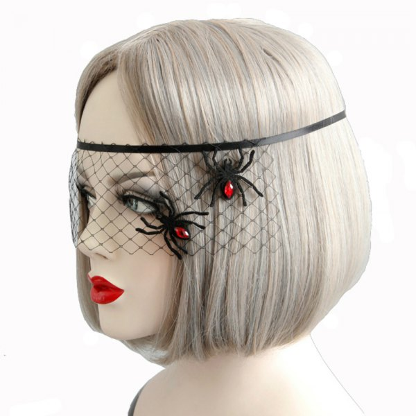 Spider Decoration Mask Face Veil Accessories for Women