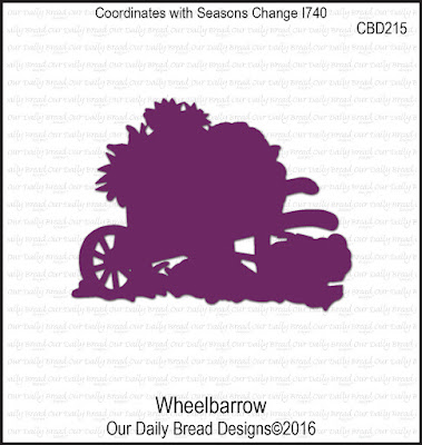 Our Daily Bread Designs Custom Die: Wheelbarrow