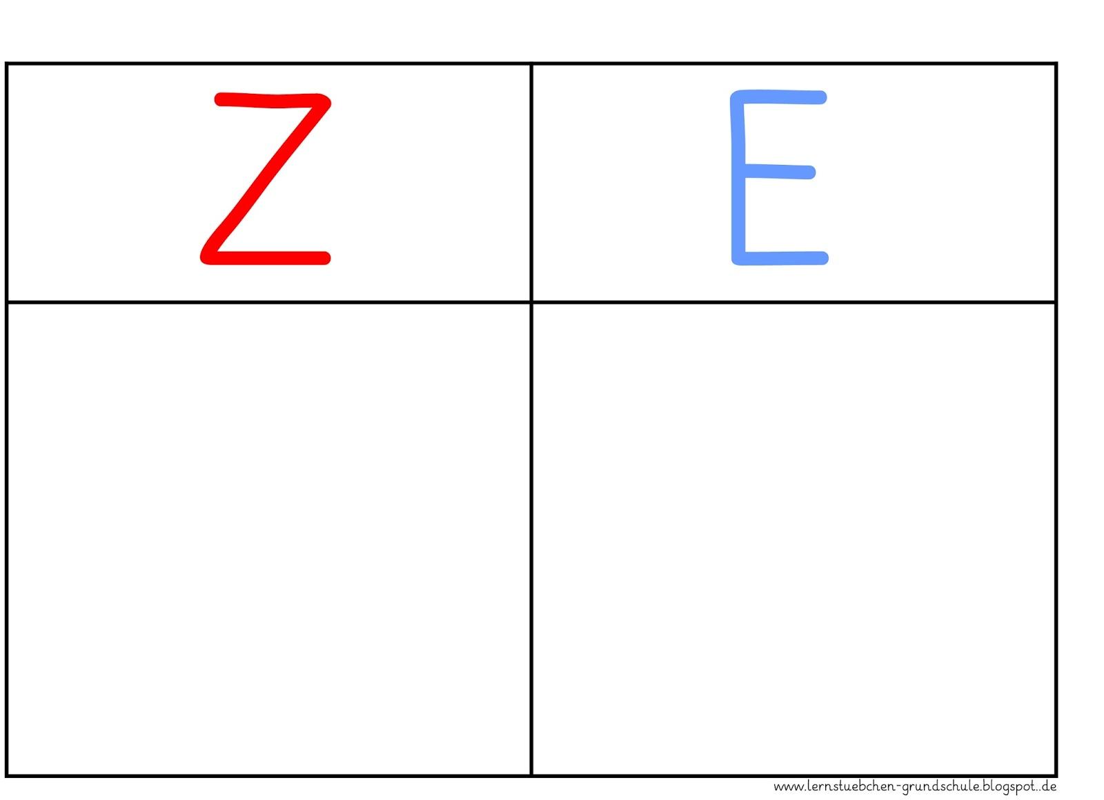 Lernstübchen: Zehner rot und Einer blau