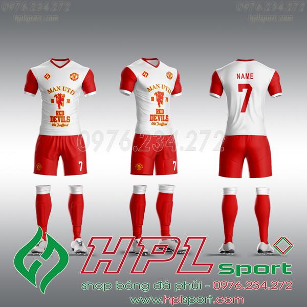 Mẫu áo câu lạc bộ tự thiết kế MU trắng