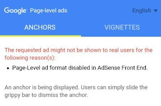 Page Level Ad Format Disabled Adsense Front End How to EASILY FIX - Page Level Ad Format Disabled Adsense Front End
