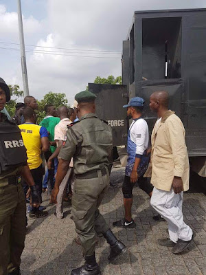 Lagos Police And OPC Arrests 15 Suspected Badoo Gang Members During Raid (Photos)