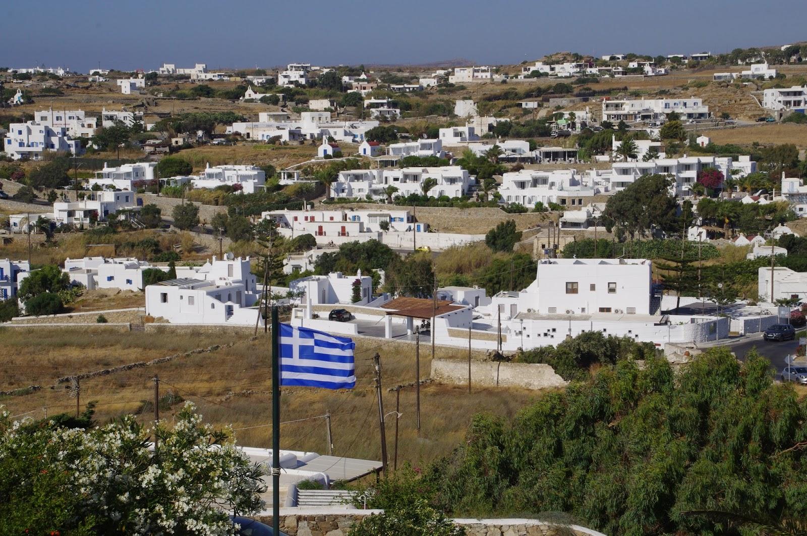 Tharroe of Mykonos Balcony Views Inland