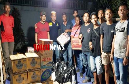 Keluarga BTB, HGD dan Keluarga Haji Rani Katimbang Peduli Korban Kebakaran di Untia