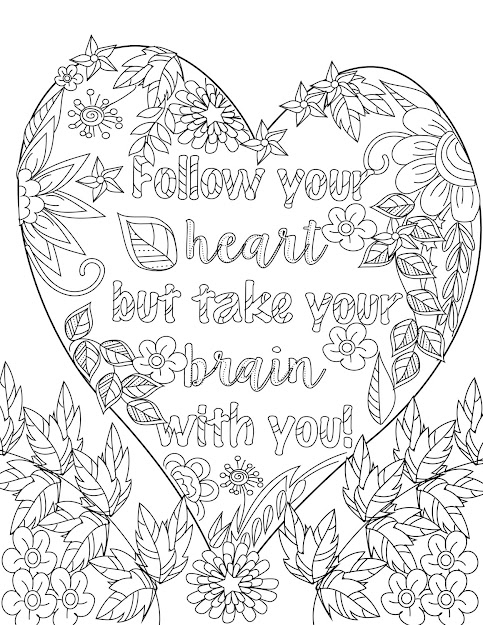 Inspirational Quotes Positive  Uplifting Adult Coloring Book Page   Davlin Publishing