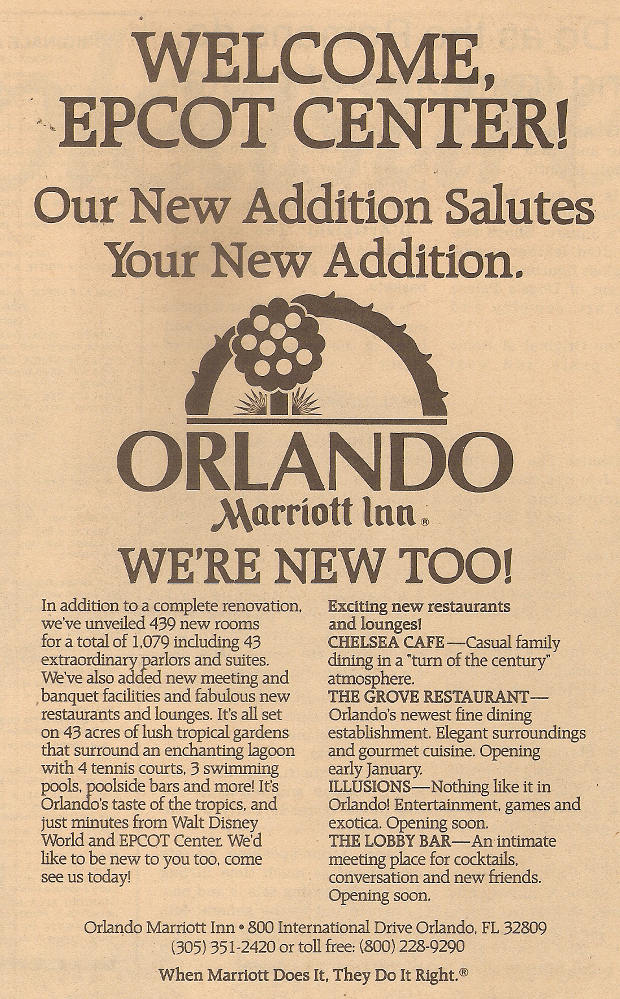 Defunct Department Stores: Passport To Dreams Old & New: Orlando Welcomes EPCOT Center