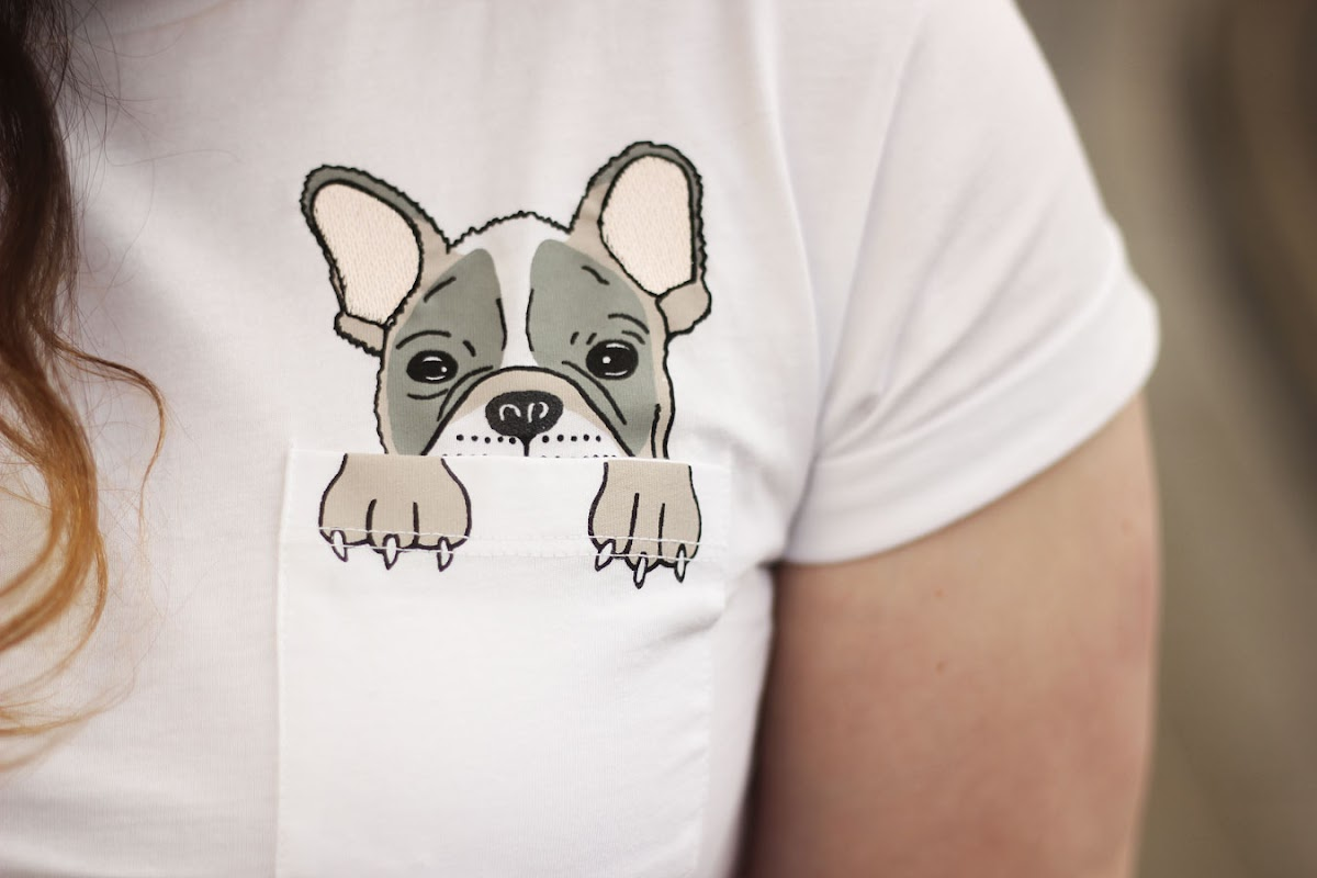 French bulldog pocket t-shirt, Topshop | www.itscohen.co.uk