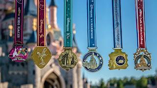 médailles du Disneyland Paris Magic Run Week End 2017