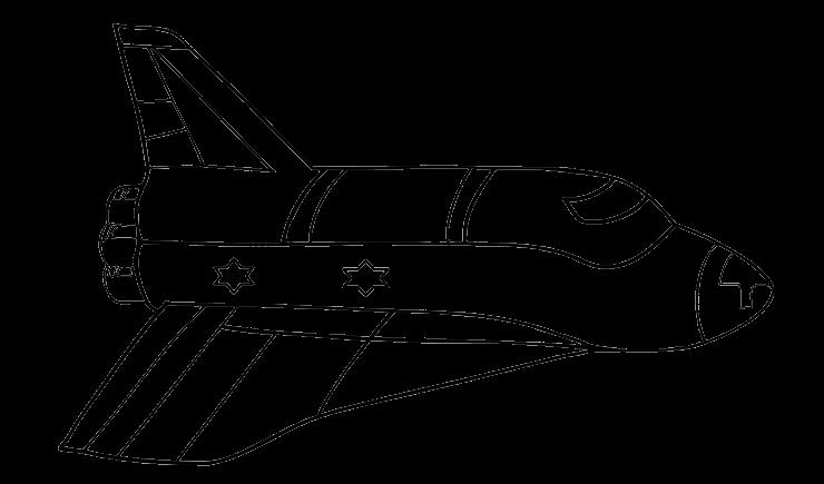 Mewarnai Gambar Pesawat Roket Aneka Mewarnai