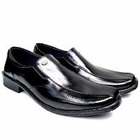 daftar harga sepatu pria terbaru Man Dien Sepatu Kerja Pantofel Pria Slip On P.02 - Hitam