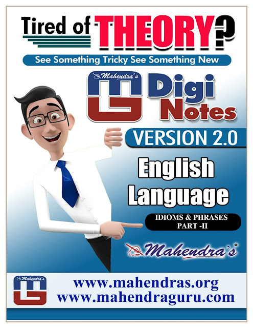 Digi Notes - 2.0 | Idioms And Phrases Part- II For SSC CHSL  | 11 .01. 2018