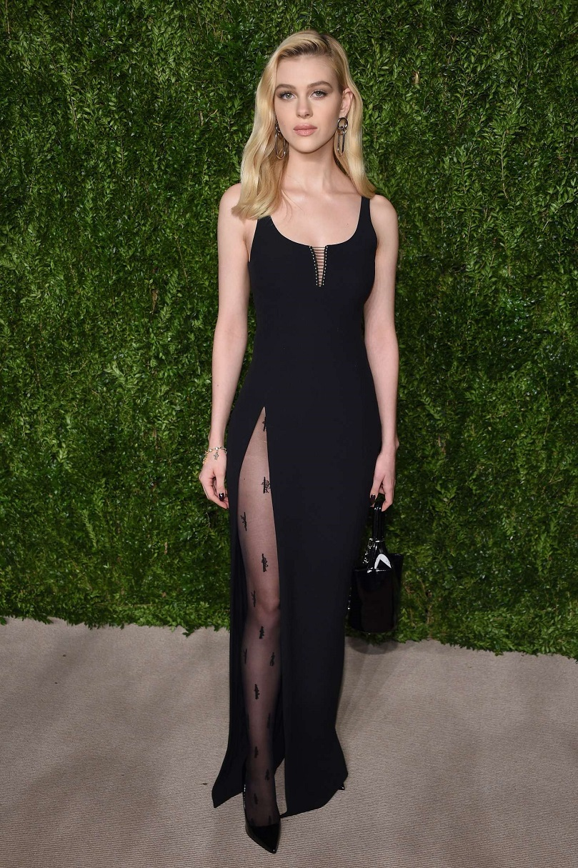Nicola Peltz wears hip-high slit dress to the 13th Annual CFDA Vogue Fashion Fund Awards