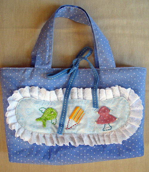 How To Sew A Cute Little Bag.  Photo Sewing Tutorial. Step by step.