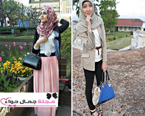 بالصور: كيف تنسقين التوب الأبيض مع الحجاب ؟ hijab White Tops