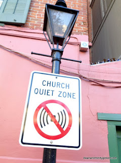 church zone sign in the French Quarter