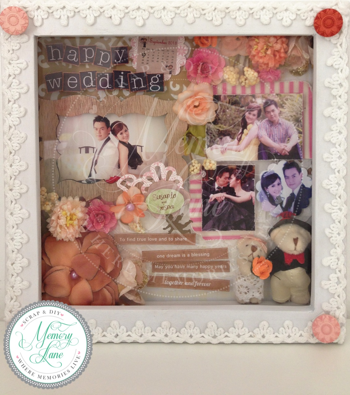 Wedding Gift Photo Frame: Blessed To Be A Blessing