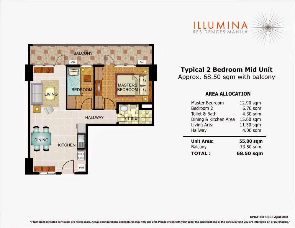 Illumina Residences 2 Bedroom Mid-Unit