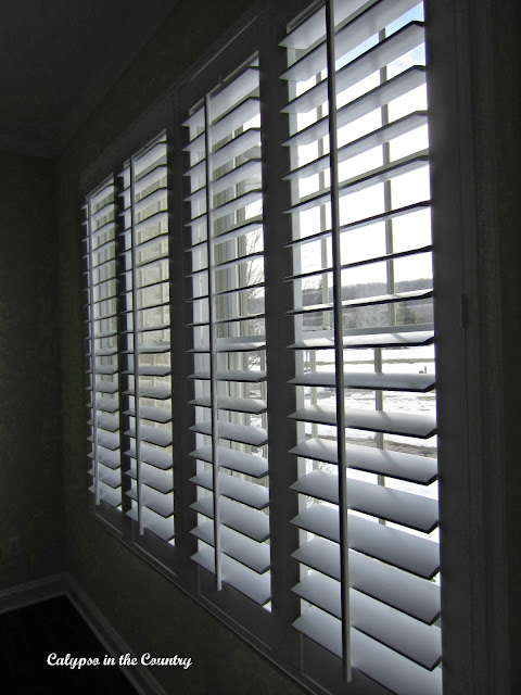 New Plantation Shutters and updated office decor