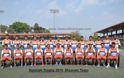 mizoram team santosh trophy 2018