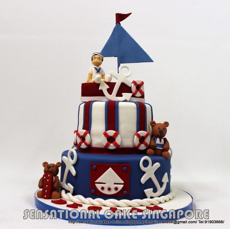 The Sensational Cakes: NAUTICAL THEME 1ST BIRTHDAY CAKE